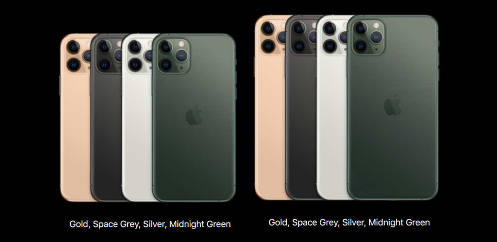 iPhone 11 Pro and Pro Max color
