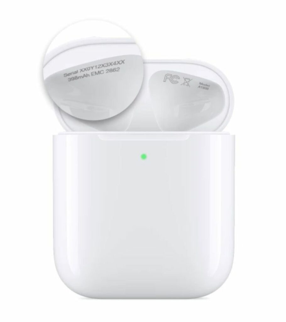 find serial number of airpods