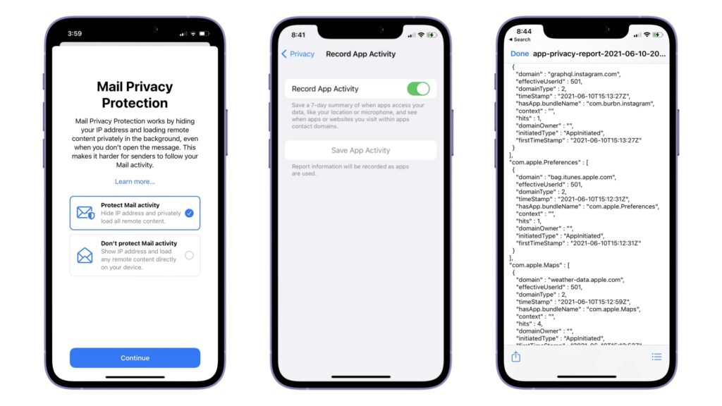 App Tracking and Privacy iOS 15
