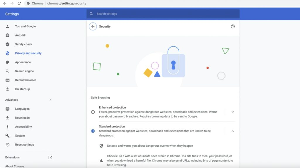 Chrome Protection against malicious downloads and extentions