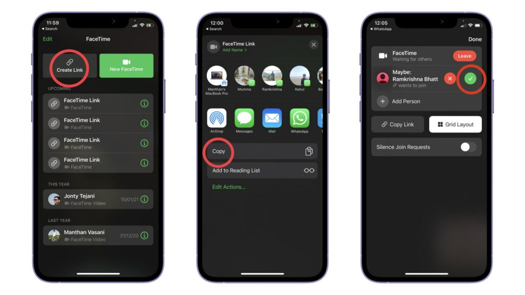 FaceTime Android iOS 15